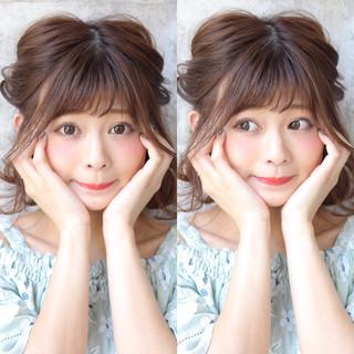 リラックス ミディアム 女子会 ガーリー ヘアスタイルや髪型の写真・画像