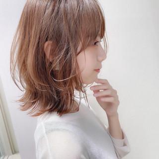 ロブ ナチュラル レイヤーカット レイヤーボブ ヘアスタイルや髪型の写真・画像
