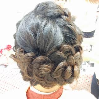簡単ヘアアレンジ ショート 編み込み ロング ヘアスタイルや髪型の写真・画像