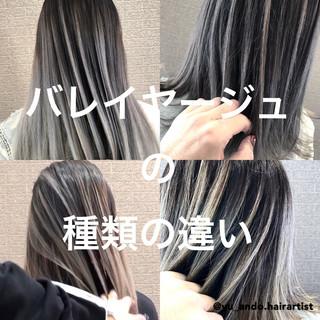 ミディアム デート バレイヤージュ ストリート ヘアスタイルや髪型の写真・画像