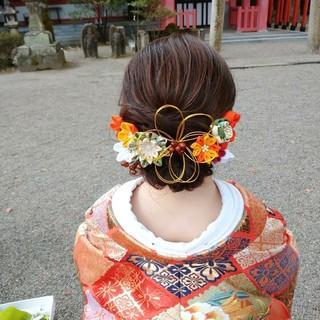 和装髪型 ロング ヘアセット 和装ヘア ヘアスタイルや髪型の写真・画像