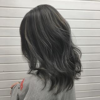 エレガント バレイヤージュ ハイライト コントラストハイライト ヘアスタイルや髪型の写真・画像