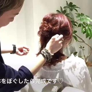 ルーズ 簡単ヘアアレンジ 外国人風 ミディアム ヘアスタイルや髪型の写真・画像