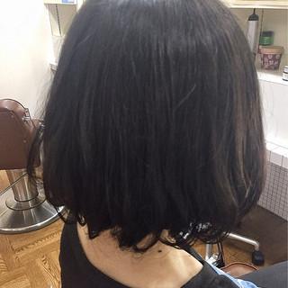 デジタルパーマ ナチュラル ワンカール ボブ ヘアスタイルや髪型の写真・画像