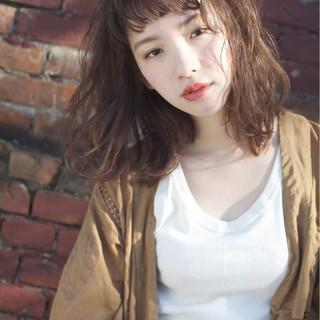 大人女子 ミディアム こなれ感 外国人風カラー ヘアスタイルや髪型の写真・画像