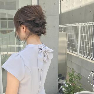 女子会 フェミニン デート セミロング ヘアスタイルや髪型の写真・画像