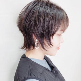 ウルフカット ニュアンスウルフ ショート 美シルエット ヘアスタイルや髪型の写真・画像