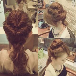 ヘアアレンジ くるりんぱ モテ髪 コンサバ ヘアスタイルや髪型の写真・画像