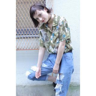 外国人風 ストリート 大人かわいい ショート ヘアスタイルや髪型の写真・画像