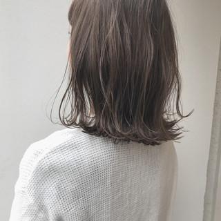 ボブ ミディアム ハイライト 透明感 ヘアスタイルや髪型の写真・画像