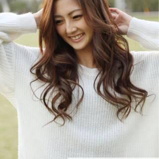 フェミニン 外国人風 モテ髪 セミロング ヘアスタイルや髪型の写真・画像