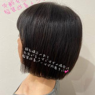エレガント ボブ ショートヘア ベリーショート ヘアスタイルや髪型の写真・画像