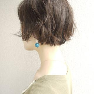 ウェーブ クラシカル ショート ゆるふわ ヘアスタイルや髪型の写真・画像