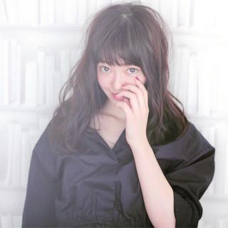 外国人風カラー 黒髪 アッシュ ナチュラル ヘアスタイルや髪型の写真・画像