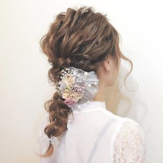 モテ髪 愛され ヘアアレンジ フェミニン ヘアスタイルや髪型の写真・画像