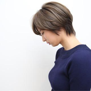 ショート モード ダブルカラー 外国人風カラー ヘアスタイルや髪型の写真・画像