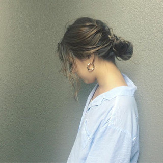ナチュラル ロング 秋 簡単ヘアアレンジ ヘアスタイルや髪型の写真・画像