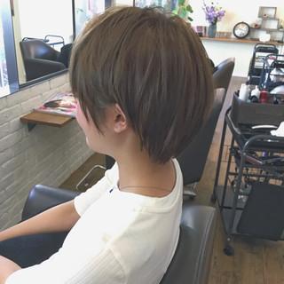 小顔 ショート リラックス 似合わせ ヘアスタイルや髪型の写真・画像