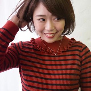 ゆるふわ 色気 大人女子 ショート ヘアスタイルや髪型の写真・画像