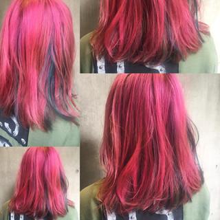外国人風 ミディアム ストリート ヘアアレンジ ヘアスタイルや髪型の写真・画像