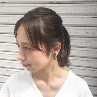 透明感 ナチュラル ヘアアレンジ 外国人風 ヘアスタイルや髪型の写真・画像