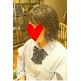簡単 ショート ボブ ガーリー ヘアスタイルや髪型の写真・画像