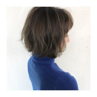 アッシュ 透明感 ナチュラル ショート ヘアスタイルや髪型の写真・画像