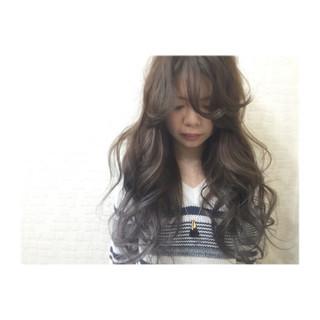 ロング 外国人風 アッシュ モード ヘアスタイルや髪型の写真・画像