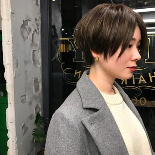ショート マッシュ ウェットヘア モード ヘアスタイルや髪型の写真・画像