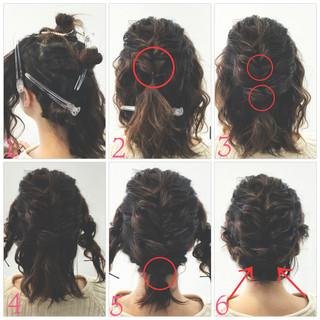 ボブ ロープ編み くるりんぱ 大人かわいい ヘアスタイルや髪型の写真・画像