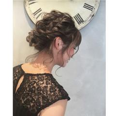 セミロング ヘアアレンジ 結婚式 エレガント ヘアスタイルや髪型の写真・画像