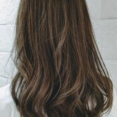 透明感 アッシュ ナチュラル ロング ヘアスタイルや髪型の写真・画像