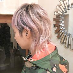 グラデーションカラー マッシュウルフ インナーカラー ストリート ヘアスタイルや髪型の写真・画像