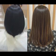 髪質改善カラー 髪質改善トリートメント ロングヘア ロング ヘアスタイルや髪型の写真・画像