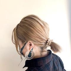 ホワイトハイライト ミルクティーベージュ ミルクティーグレージュ ボブ ヘアスタイルや髪型の写真・画像
