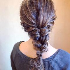 エレガント 編みおろし 結婚式 ロング ヘアスタイルや髪型の写真・画像