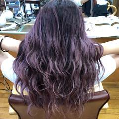 セミロング フェミニン ブリーチ バレイヤージュ ヘアスタイルや髪型の写真・画像