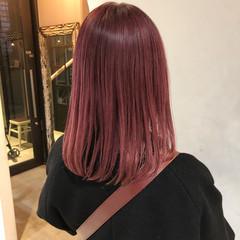 ラズベリーピンク ピンクバイオレット ピンクパープル ベリーピンク ヘアスタイルや髪型の写真・画像