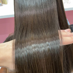 髪質改善トリートメント ナチュラル 艶髪 トリートメント ヘアスタイルや髪型の写真・画像