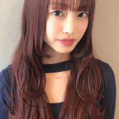 韓国 ピンクカラー 韓国風ヘアー 韓国ヘア ヘアスタイルや髪型の写真・画像