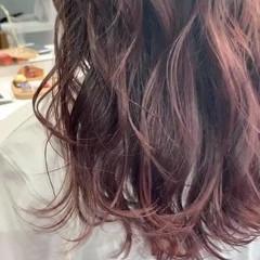 グラデーションカラー ナチュラル 透明感カラー ピンクベージュ ヘアスタイルや髪型の写真・画像