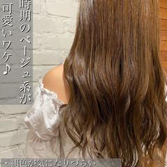 イルミナカラー グレージュ オルチャン ナチュラル ヘアスタイルや髪型の写真・画像