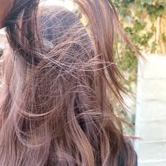 ナチュラル ロング インナーカラー ブリーチカラー ヘアスタイルや髪型の写真・画像