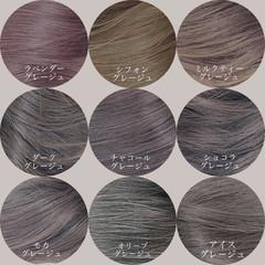 ロング ブリーチなし 透明感カラー イルミナカラー ヘアスタイルや髪型の写真・画像
