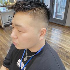 ショート 刈り上げ メンズヘア フェードカット ヘアスタイルや髪型の写真・画像
