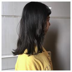 くすみカラー 春色 ダークカラー ナチュラル ヘアスタイルや髪型の写真・画像