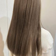 切りっぱなしボブ インナーカラー ナチュラル ショートヘア ヘアスタイルや髪型の写真・画像