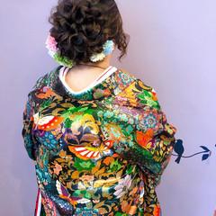 ロング ヘアセット 和装ヘア ブライダル ヘアスタイルや髪型の写真・画像