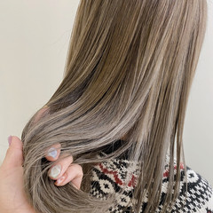 透明感 コントラストハイライト ハイライト ナチュラル ヘアスタイルや髪型の写真・画像