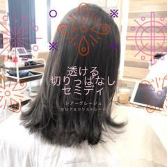 縮毛矯正 前髪 髪質改善 ナチュラル ヘアスタイルや髪型の写真・画像